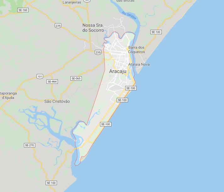 Mapa Aracaju